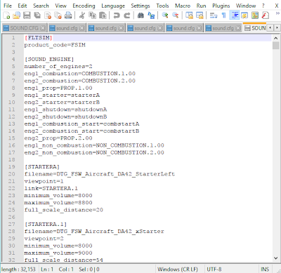 Sound Configuration Files - DTG Flight Sim World SDK